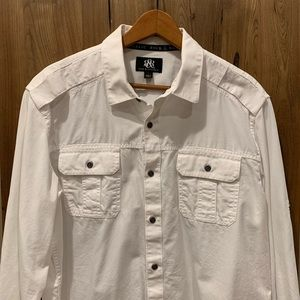 Men's long sleeve casual button down shirt